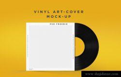 光盘包装样机 Vinyl Disc-Mockup