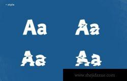 美丽的水波纹英文字体 Blue Lagoon Decorative Font