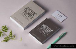笔记本文具样机品牌提案素材 Psd Notebook Stationery Mockup