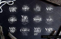 烟雾标签设计素材