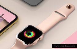 苹果手机/手表等设备集合场景贴图展示样机模版 Psd Project Devices Showcase