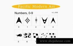超级复古的中世纪现代装饰符号字体 Mid-Century Modern Ornaments Font