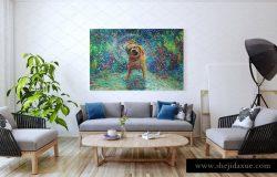 室内超大尺寸油画画框样机模板
