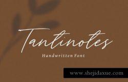 手绘签名英文字体 Tantinotes – Handwritten Font