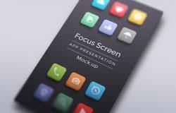 Focus App Screen Mock-Up Vol008