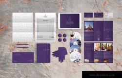 品牌VI标识设计企业办公文具样机模板