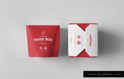 中式食品包装样机 Food Box Mock-up
