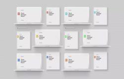 极简白色粘土风格MacBook Pro & iPad平板电脑样机套装