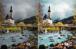 高对比度色彩增强照片滤镜LR预设 Bavaria Mobile & Desktop Lightroom Presets