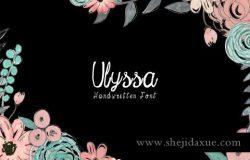 时尚手绘字体 Ulyssa Handwritten Font Bonus