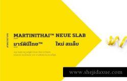 具有完美比例绘图并带有泰语和字体的MartiniThai Neue Slab