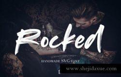 摇滚手写字体 Rocked SVG Font