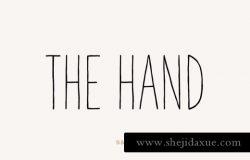 手绘字体-灯光 The Hand Font Light