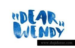 水彩手绘字体 Wendy Font