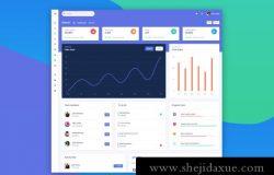 终极版网站后台管理界面UI工具包 Argon Dashboard Pro