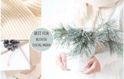 白色舒适圣诞场景照片包 White Cozy Christmas Bundle