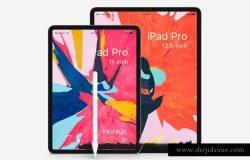苹果iPad手机APP网页贴图样机模版素材 Psd iPad Pro Mockup