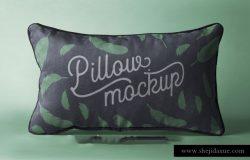 靠枕/抱枕样机贴图展示PSD模版 Rectangular Psd Pillow Mockup