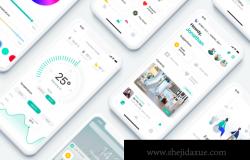 [Luna Home]移动智能家居服务APP移动应用程序UI界面设计素材 Smart Home UI Kit