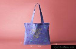 手提袋购物袋环保袋贴图样机PSD模版 Tote Bag Fabric Mockup Vol4