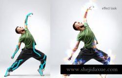 体育运动竞技电能特效渲染ps动作Photoshop Action