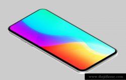10种颜色机身通用智能手机等距视图样机贴图模版