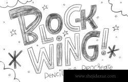 铅笔橡皮擦笔刷素材 Blockwing Pencils for Procreate
