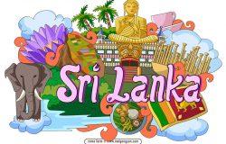 手绘涂鸦世界国家城市斯里兰卡特色建筑矢量元素srilanka