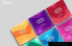 社交媒体正方形广告&贴图创意设计模板v19 SRTP – Social Media Kit.19