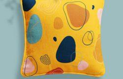亚麻布料枕头图案设计样机素材包[1.86GB,PSD]