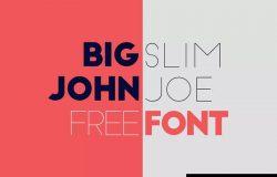 免费标题排版无衬线字体下载 Big John & Slim Joe Free Fonts