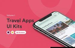 高质量的旅行/旅游APP应用iOS UI设计套件