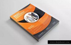 企业宣传&商业广告海报传单设计模板 Corporate Flyer