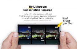 20款霓虹灯光绿城市街景LR照片滤镜预设