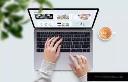苹果笔记本工作场景屏幕预览样机模板v2 Laptop Mockups vol02