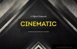 10款电影黑色背景纹理套装 Cinematic Background Textures