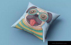 方形枕头/靠垫外观印花图案设计样机 Square Pillow / Cushion MockUp