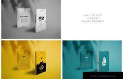 现代A5精装书籍封面设计模板合集