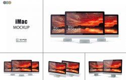 iMac Mockups V.4实体模型广告样品机