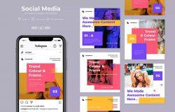 6款方形尺寸社交媒体品牌故事推广设计模板