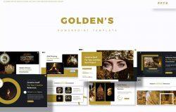 创意个人演讲幻灯片设计PPT模板 Golden's – Powerpoint Template