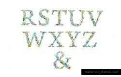 字母图形插画 6 ALPHABETS