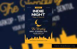 独立游戏之夜活动海报设计模板 Indie Night