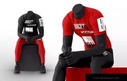 潮牌T恤男模上身效果图样机模板 Male Mannequin with T-Shirt Mockups