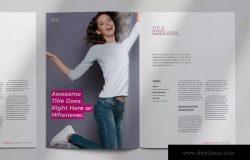 女性时尚服饰主题杂志InDesign模板 Magazine Template