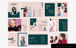 时尚服饰品牌产品目录设计模板 Candyturf Fashion Lookbook Catalogue