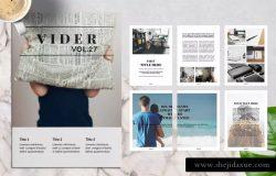 时尚高品质的生活方式/旅行风景画册模板 Vider Magazine