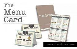 简约排版咖啡厅菜单设计模板 Coffee Shop Menu