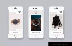 简约Instagram商店促销/品牌故事广告模板V9 Instagram Stories