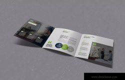 三折页品牌/企业介绍宣传单设计模板 King Julian Square Trifold